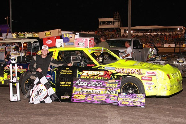 Brandon Pruitt's 2013 IMCA Boone Supernationals Hobby Stock Champion